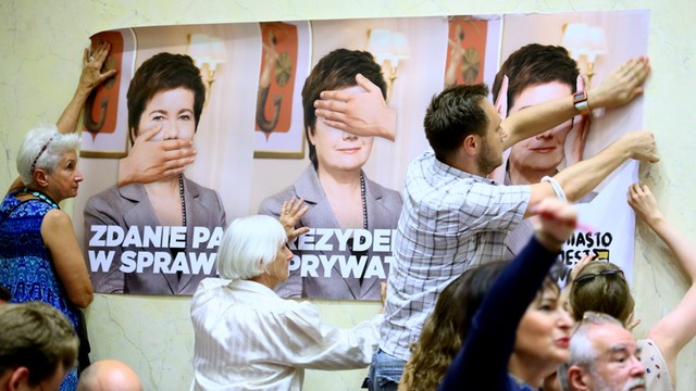 Gronkiewicz-Waltz: żadna siła polityczna nie rozwiązała kwestii reprywatyzacji, dopiero PO