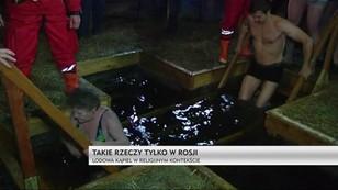 Rytualne kąpiele w Rosji z okazji Święta Chrztu Pańskiego
