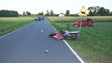23-06-2016 17:26 Śmierć motocyklisty. Uderzył w skręcające auto