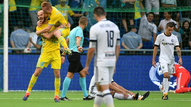 Bolesna porażka Legii w Kazachstanie. Mistrzowie Polski przegrali 3:1