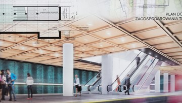 """Wiemy, jak będą wyglądać nowe stacje warszawskiego metra. """"Przeszklone, lekkie i oszczędne w formie"""""""