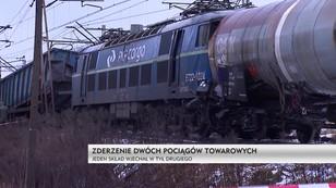 Śląsk: zderzenie pociągów towarowych w Myszkowie
