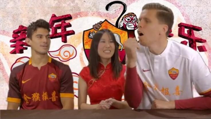 Szczęsny uczył innych języka chińskiego! (WIDEO)