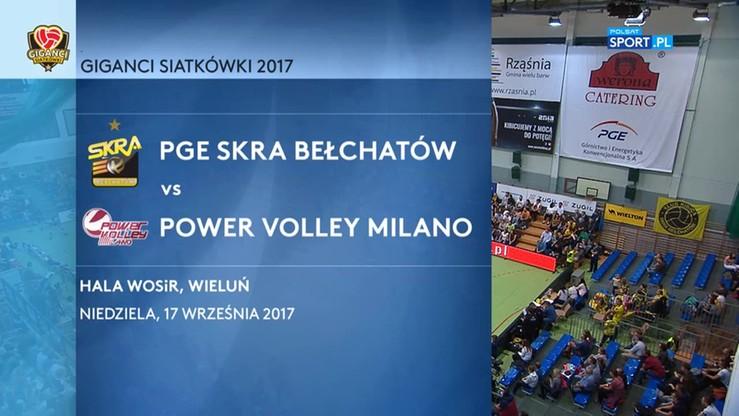 PGE Skra Bełchatów - Power Volley Milano 3:0. Skrót meczu