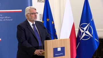 """10-08-2017 11:18 """"Analizy nie są jednoznaczne"""". Waszczykowski zabrał głos ws. reparacji wojennych"""
