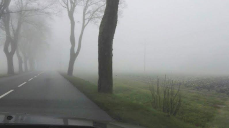 Mglisty poranek w Słupsku