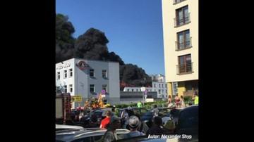 Pożar we Wrocławiu. Kłęby czarnego dymu nad miastem