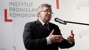 """25-10-2016 14:50 """"Kompromitacja dla państwa polskiego"""". Komorowski o wypowiedzi Macierewicza o Mistralach"""