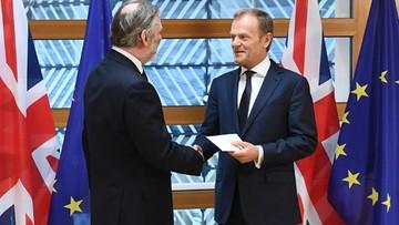 """29-03-2017 15:26 Ruszył Brexit. Tusk odebrał list uruchamiający procedurę. """"Już za wami tęsknimy"""""""