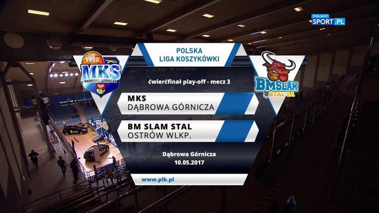 MKS Dąbrowa Górnicza - BM Slam Stal 76:85. Skrót meczu