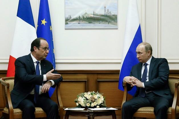 Hollande i Putin o kryzysie na Ukrainie