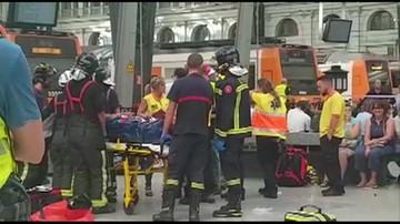 Wypadek kolejowy w Barcelonie. Co najmniej 54 osoby ranne