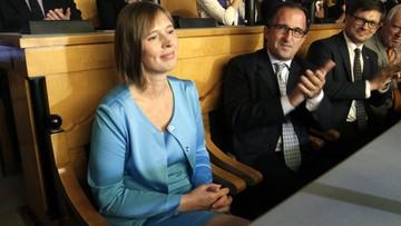 03-10-2016 15:26 Pierwsza kobieta-prezydent w Estonii. Kersti Kaljulaid wybrana przez parlament