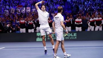 2017-11-25 Puchar Davisa: Francuzi lepsi w deblu, prowadzą w finale