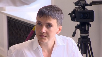 """07-07-2016 09:17 """"Cieszymy się, że jest pani z nami, na wolności."""" Sawczenko w polskim Sejmie"""