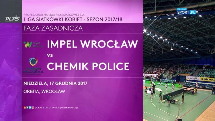 Impel Wocław – Chemik Police 2:3. Skrót meczu