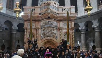 23-03-2017 12:38 Odrestaurowano kaplicę Grobu Pańskiego w jerozolimskiej bazylice