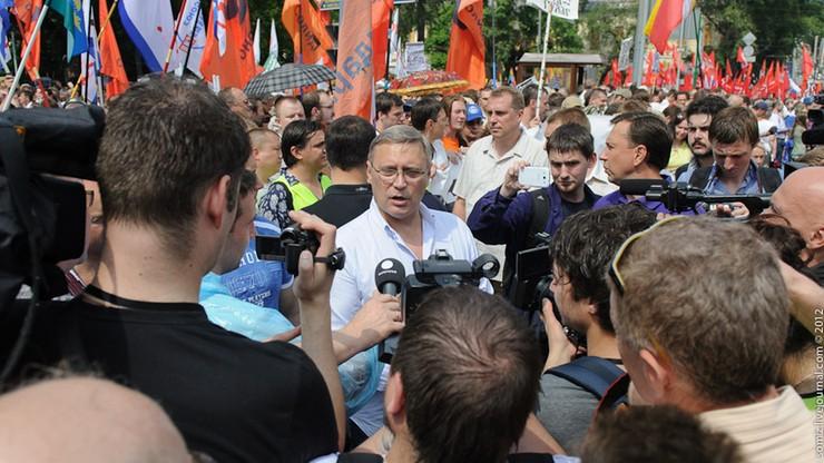 Rosyjscy opozycjoniści zaatakowani na wiecu wyborczym
