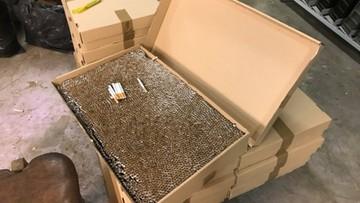 CBŚP zlikwidowało nielegalną fabrykę papierosów. Zabezpieczono blisko 5 ton krajanki tytoniowej o wartości 3 mln zł