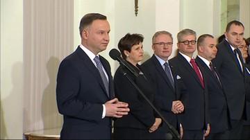 Rekonstrukcja rządu - przemówienie prezydenta Andrzeja Dudy