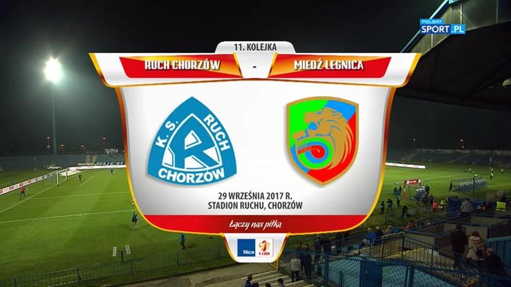 Ruch Chorzów - Miedź Legnica 1:0. Skrót meczu
