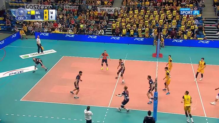 PGE Skra Bełchatów - ACH Volley Lublana 3:1. Skrót meczu