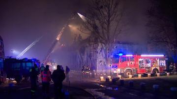 20-02-2016 06:44 Spłonęła hala w Poznaniu. Nie było żadnych ofiar