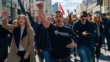 """""""Naszą drogą nacjonalizm, uderzymy w liberalizm"""". Wszechpolacy manifestowali w stolicy"""