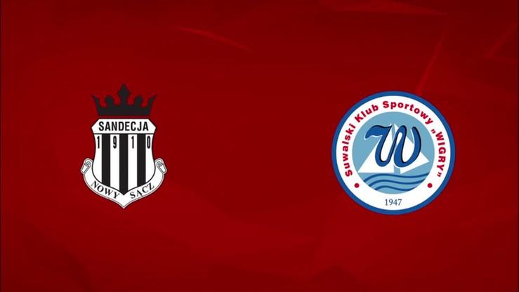 2015-11-02 Sandecja Nowy Sącz - Wigry Suwałki 1:0. Skrót meczu