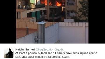Wybuch w Hiszpanii. Są ofiary