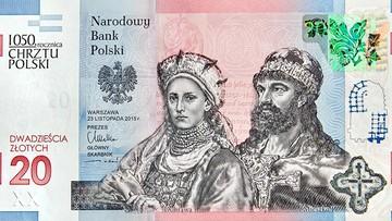 11-04-2016 12:02 Mieszko i Dobrawa na kolekcjonerskim banknocie. NBP upamiętni 1050-lecie chrztu Polski