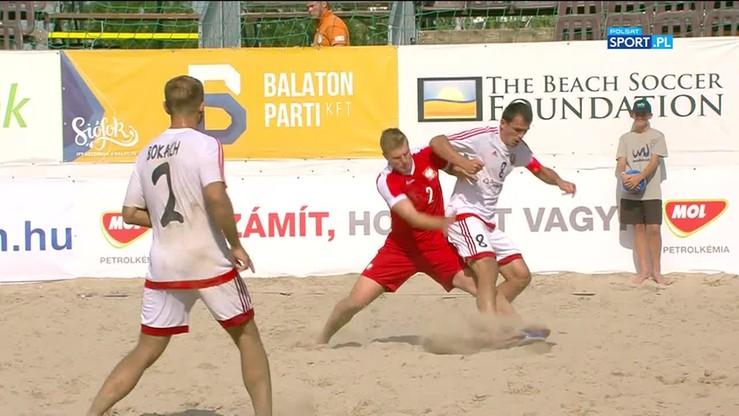 Beach soccer: Białoruś - Polska 6:0. Skrót meczu