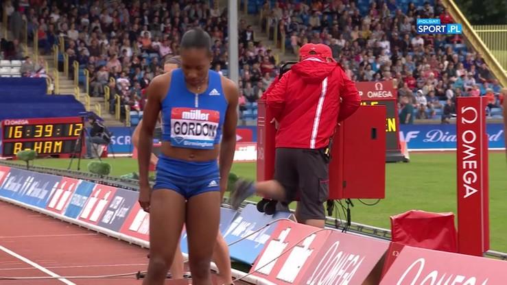 Diamentowa Liga: Niebezpieczny upadek przed biegiem na 400 metrów kobiet