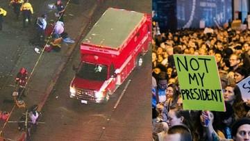 10-11-2016 07:45 Protesty po wygranej Trumpa. Strzały i ranni w Seattle