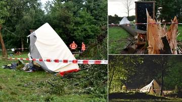 02-08-2017 15:50 Burza przewróciła drzewo na namiot. W środku były dzieci. Nie żyje 15-letni chłopiec