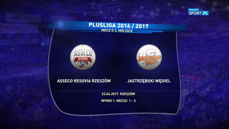Asseco Resovia - Jastrzębski Węgiel 2:3. Skrót meczu