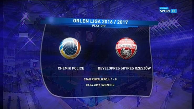 Chemik Police - Developres SkyRes Rzeszów 3:0. Skrót meczu