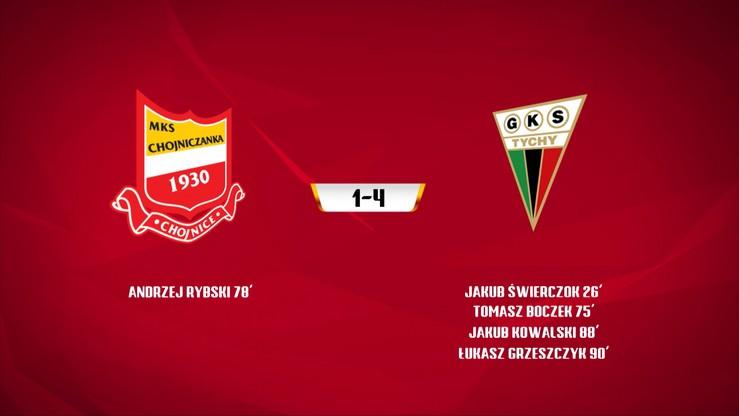 Chojniczanka Chojnice - GKS Tychy 1:4. Skrót meczu