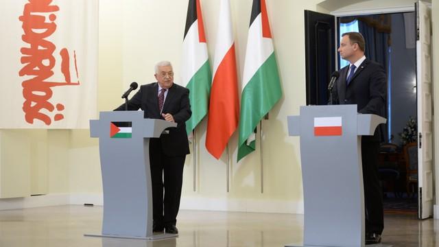 Andrzej Duda gościł prezydenta Palestyny - Polska będzie zabiegała, aby konflikt izraelsko-palestyński się rozwiązał