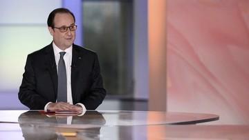15-04-2016 05:23 Hollande: pod koniec roku zdecyduję, czy będę ubiegał się o kolejną kadencję