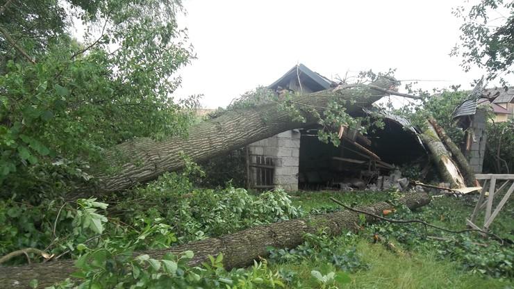 2017-07-23 Szkody po trąbie powietrznej w Dębowie (woj. podkarpackie)