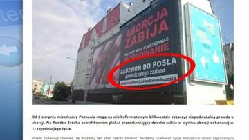 24-08-2016 16:59 Kraków: nadzór budowlany polecił usunąć plakat z martwym płodem