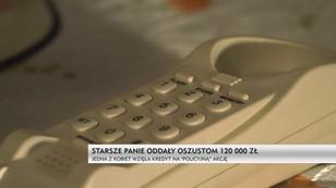 Starsze panie oddały oszustom 120 tys. zł - jedna z kobiet wzięła kredyt na policyjną akcję