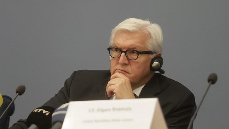 Steinmeier za stopniowym znoszeniem sankcji wobec Rosji