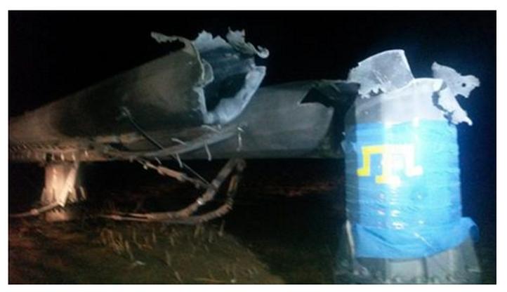 Cały Krym bez prądu. Wysadzono maszty energetyczne