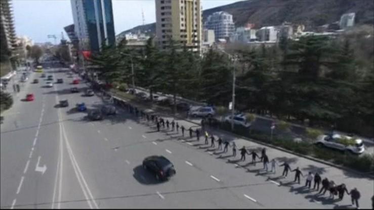 Gruzini wyszli na ulice. Protestowali przeciwko Gazpromowi