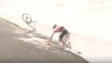 27-05-2016 19:19 Giro d'Italia: Kruijswijk wpadł w śnieg. Chavez nowym liderem