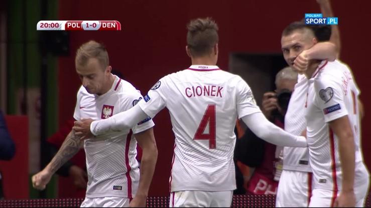 2016-10-08 Polska - Dania 1:0. Gol Lewandowskiego
