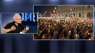 """18-07-2017 23:05 """"Prezydent zmienił stanowisko, bo ludzie wyszli na ulice"""". Niesiołowski w programie """"Tak czy Nie"""""""