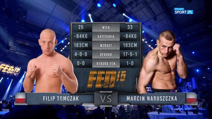 Filip Tomczak - Marcin Naruszczka. Skrót walki